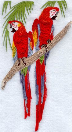 Scarlet Macaw Throw Pillow with Form  by SimplySusanLeigh on Etsy, $40.00