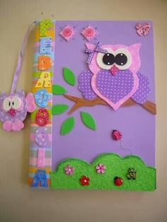See 1 tip from 7 visitors to Night Owl Study Room. Owl Crafts, Diy And Crafts, Crafts For Kids, Paper Crafts, Pot A Crayon, Merian, Felt Books, Foam Sheets, Busy Book
