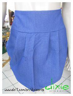 Mini Saia Jean Cintura altura Disponivel  a pronta entrega tamanho M   Outros tamalhos fazemos sob encomenda R$98,00