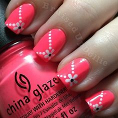 Nail art Christmas - the festive spirit on the nails. Over 70 creative ideas and tutorials - My Nails Nagellack Design, Nagellack Trends, Fancy Nails, Diy Nails, Trendy Nails, Cute Nail Art, Cute Nails, Spring Nails, Summer Nails