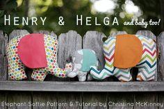 birchfabrics: Free Pattern & Tutorial: Henry & Helga Plushies