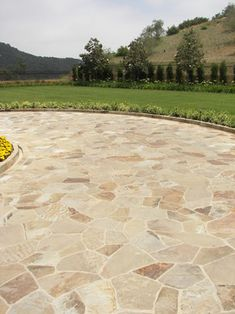 Cambridge Sandstone Paving - traditional - landscape - los angeles - KGO STONE, The Natural Stone Company