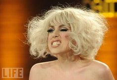 Lady Gaga looking weird -- no costume required!