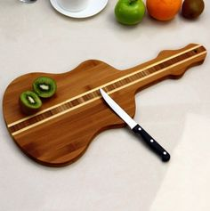 Guitar Shaped Cutting Board - perfect for cutting limes on your bar!