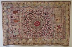 Kantha or bed cover from Bengal, India, late 19th - early 20th century, cotton, plain weave