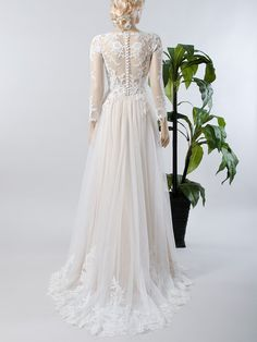 Spitzen-Brautkleid Langarm Brautkleid Brautkleid von ELDesignStudio