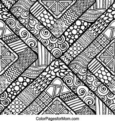 Doodles 13 Advanced Coloring Page
