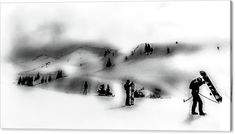 At Snowboarding Canvas Print / Canvas Art by Cuiava Laurentiu Got Print, Stretched Canvas Prints, Hanging Wire, Canvas Material, Snowboarding, Fine Art America, Poster Prints, Canvas Art, Snow Board