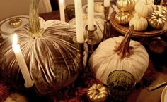 DIY - Velvet Pumpkins — found at SYBARITE DESIGNS