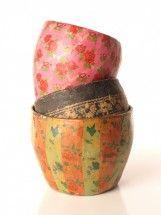 Vintage Paper Mache Vase