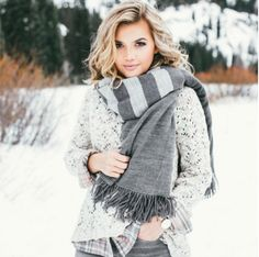 Regram! You're looking gorgeous in grey, @kristinrosedavis! That #StitchFix scarf is snow pretty. Tag your pics with #StitchFix for a chance to be featured.