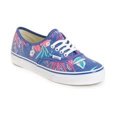 6bf6801fa7bb Vans Authentic Slim Van Doren Blue Parrot Green Shoes ( 55) ❤ liked on