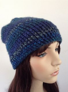 A personal favorite from my Etsy shop https://www.etsy.com/listing/252321486/womens-beanie-slouchy-hat-crocheted-blue