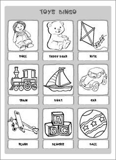 Resultado de imagem para toys worksheets for kids
