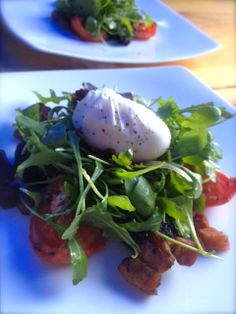 Starter Ideas - Black Pudding - Poached Egg - Salad - Event Food Ideas - Christmas Party