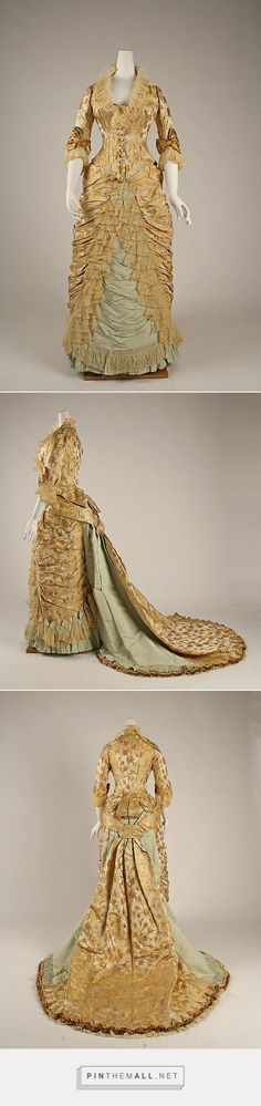 Dinner dress by House of Worth ca. 1877 French | The Metropolitan Museum of Art