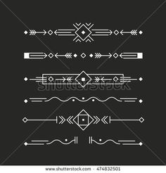 Border collection made in clean and modern vector line style. Easy to use and edit.