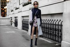 Jessi Malay - Topshop Petite Colorblock Coat, Tony Bianco Diddy Boots, Topshop Jacquard Pelmet Skirt, Thale Blanc Textured Leather Bag, Peverse Cat Eye Sunglasses - 3 Simple Ways To Master Colorblocking | LOOKBOOK