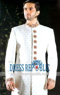 Style DRM1130, Product code: DRM1130, by www.dressrepublic.com - Keywords: Mens Sherwani in New Jersey, Designer Jodhpuri Suits in New Jersey, Sherwani Styles for Wedding