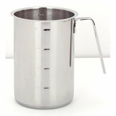Resto High Sauce Pot by Demeyere. $44.95. 8010 Features: -Tall and convenient saucepot.-Prevents spilling.-Comfortable handle allows easy pouring.-With measure indications.-Volume: 1.2-Quart (1.1 L).-Material: Stainless Steel 18/10.-Cleaning and care: Dishwasher-resistant. Includes: -Suitable for oven and all cookers, induction included. Color/Finish: -High gloss finish. Dimensions: -Size: 5.7'' H x 3.5'' W. Warranty: -Warranty: 2 year gaurantee (not for professional use).