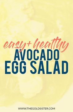 Easy and healthy MAYO-FREE avocado egg salad! Perfect for all those cookouts and family get togethers where you want to bring a healthy alternative. Click through to read >>