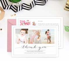 Business Thank You Card Template Floral Thank You Card Template  Small Business  Photographer .