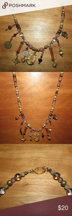 Beaded Cameo Necklace $$OBO$$ 21 inches long, bought at a craft fair $$  CLOSET CLEAR OUT! Taking all offers made using the button, I also give great deals on bundles, just ask! Note: I do not take offers $5 or less. Also I do not trade. Handmade  Jewelry Necklaces