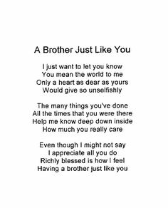 Birthday Happy Brother From Sister Love Quotes Best Ideas Brother Poems From Sister, Sister Love Quotes, Wishes For Brother, Brother Birthday Quotes, Birthday Cards For Brother, Brother And Sister Love, Cute Love Quotes, Sibling Quotes Brother, Little Brother Quotes