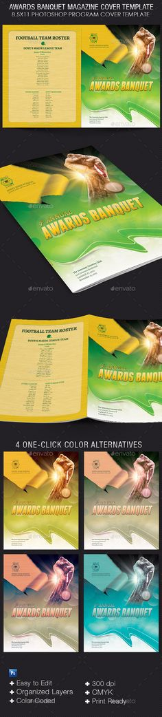 sports program template free - sports awards banquet program template athletic booster