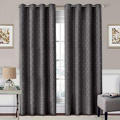 SolarShield® Coleman Grommet Top Room-Darkening Window Curtain Panel