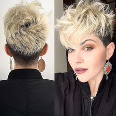 Short Pixie Hairstyles Ideas for Women In 2020 38 Short Pixie Haircuts for Thick Hair Get Your Of 98 Wonderful Short Pixie Hairstyles Ideas for Women In 2020 Undercut Pixie Haircut, Pixie Haircut For Thick Hair, Short Hairstyles For Thick Hair, Little Girl Hairstyles, Hairstyles Haircuts, Short Hair Cuts, Cool Hairstyles, Short Hair Styles, Hairstyle Ideas