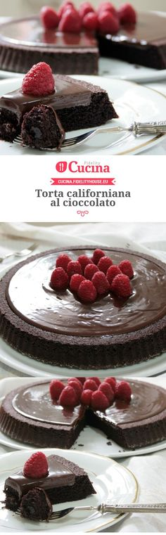 Torta californiana al cioccolato della nostra utente Sanny. Unisciti alla nostra Community ed invia le tue ricette! Sweet Recipes, Cake Recipes, Dessert Recipes, Sweets Cake, Chocolate Desserts, Cake Chocolate, Yummy Cakes, Nutella, Cake Cookies