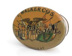 Vintage Tobacco Cigarettes Tin Box  Oval Shaped by madlyvintage, $19.00