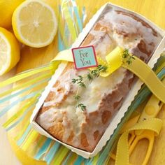 Lemon-Thyme Tea Bread Recipe from Taste of Home