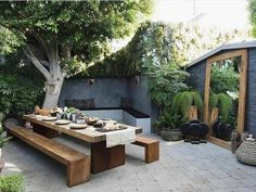 Some outdoor shopping in LA # sponsored ., A little outdoor shopping in LA # sponsored When historic inside concept, the pergola is suffering from a modern day rebirth these types of days. Outdoor Dining Set, Outdoor Rooms, Outdoor Gardens, Outdoor Decor, Dining Sets, Modern Outdoor Living, Outdoor Mirror, Dining Table, Patio Table