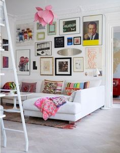 gallery wall. living room