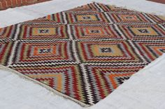 Turkish hand woven vintage antique kilim rug  Size: 10.6x7.2Feet,323x230 cm  Age: about 60 years old  Origin:Turkey,made Sout -West of Turkey ( Çal,Denizli)  The kilim rug is made of finest wool on cotton and colored vegetable dyes of the area. All the restorations have been done and ready to use home and your Office.  Care:Dry Cleaning only  Shipping:ship item 2,3 days you will get your item 6,7 a week days, We shiping by FEDEX with tracking number.  All our photo was taken in daylight If…