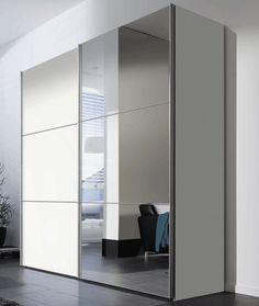 SAM® Kleiderschrank Schwebe Schiebetür 200 cm Weiß Bijou