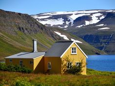 Hesteyri, North of Isafjordur, Iceland,Hesteyri, North of Isafjordur, Iceland  One of the few, but well maintained, old houses in the abandoned place Hesteyri, far north in the Iceland Westfjord, where there are no roads.