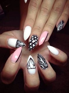 #White #Pink #Black #CatClaws #Diamonds #Stripe #Bandana #Triangle #Aztec