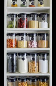 Japanese organized pantry. So neat! Repin!