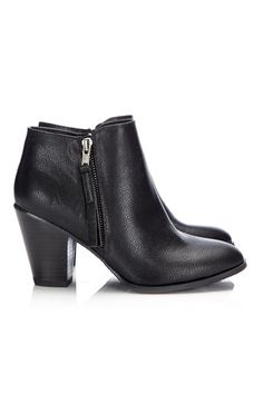 Black Side Zip Ankle Boot