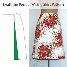 Draft the Perfect A Line Skirt Pattern (download) #wellsuitedblog #patternpuzzles #creativepatternmaking #sewingpatterns #vintagepatterns #PDFsewingpatterns #digitalgarmentblocks #plussize #studiofaro #patternmakinginstructions #patternmakingworksheets Girl Dress Patterns, Skirt Patterns Sewing, Blouse Patterns, Clothing Patterns, Coat Patterns, Drape Skirt Pattern, Maxi Skirt Tutorial, Crochet Skirts, Draped Skirt