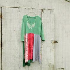 oversized Panel Dress by CreoleSha  upcycled clothing by CreoleSha