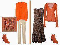 The Vivienne Files: orange Some ideas for wearing my orange jumper #21StepsStyleCourse