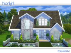 Moonlight house by lenabubbles82 at TSR via Sims 4 Updates