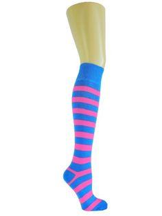 Socks Avenue, Damen Kniestrümpfe, Hot Pink & Blau Chapini® http://www.amazon.de/dp/B005MIZAIM/ref=cm_sw_r_pi_dp_SRrKwb0V30B11