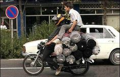 Travelling light... #SafetyFails #Funny