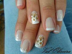 Uñas French Manicure Designs, Nail Art Designs, Nancy Nails, Bella Nails, Pretty Nail Art, Flower Nails, French Nails, Manicure And Pedicure, Swag Nails