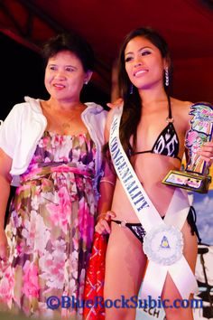 One of the beautiful Filipina contestants at the Miss Blue Rock 2013 Beauty Pageant at the Blue Rock Beach Resort in Baloy Beach, Olongapo City, Subic Bay, Philippines